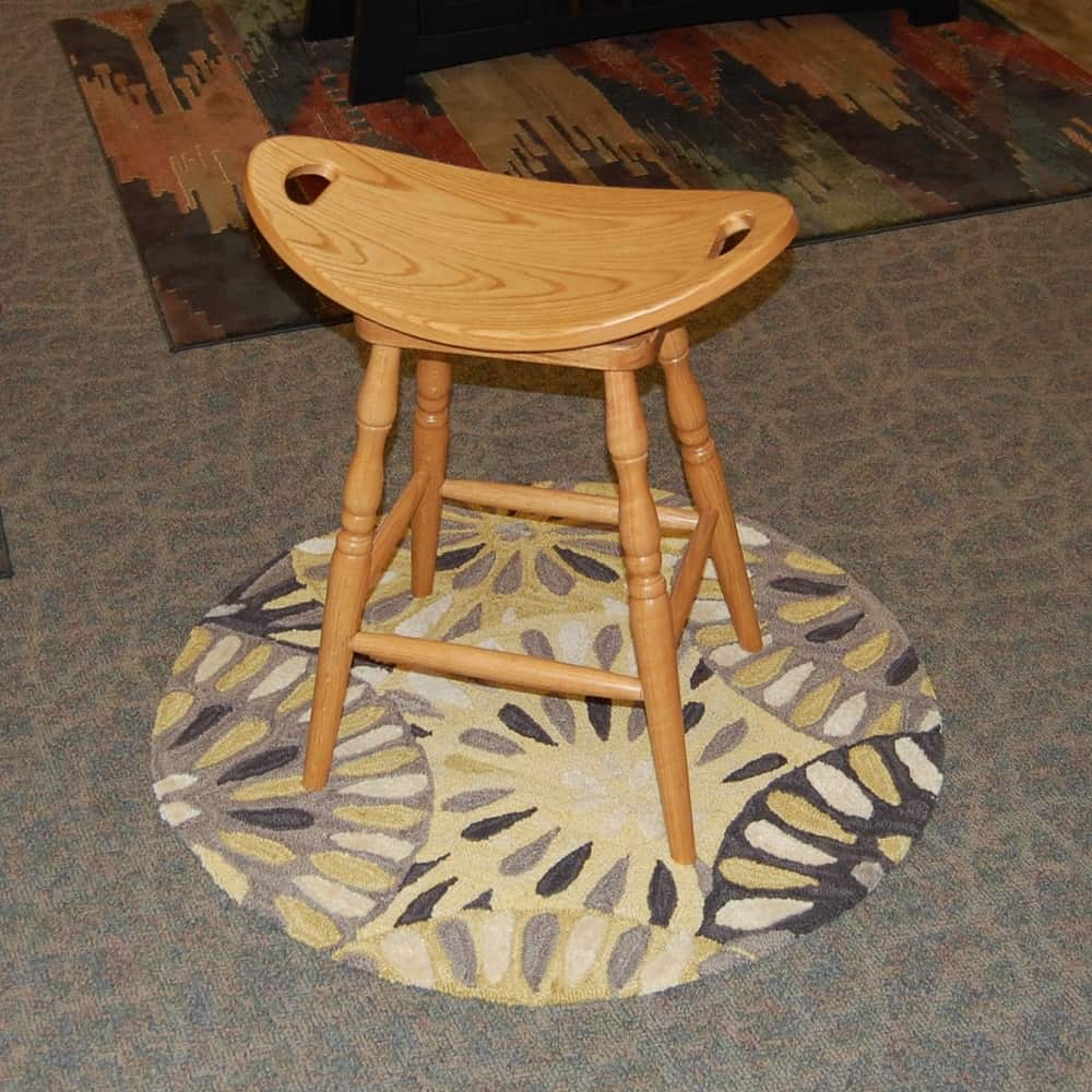 24 Swivel Saddle Bar Stool Oaks2 Amish Oak