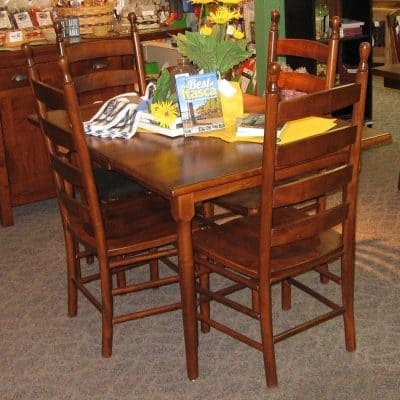 36 X 48 Colonists Brown Maple Dining Table With 2 12 Inch Leaves Shown In A Michaels Finish Only