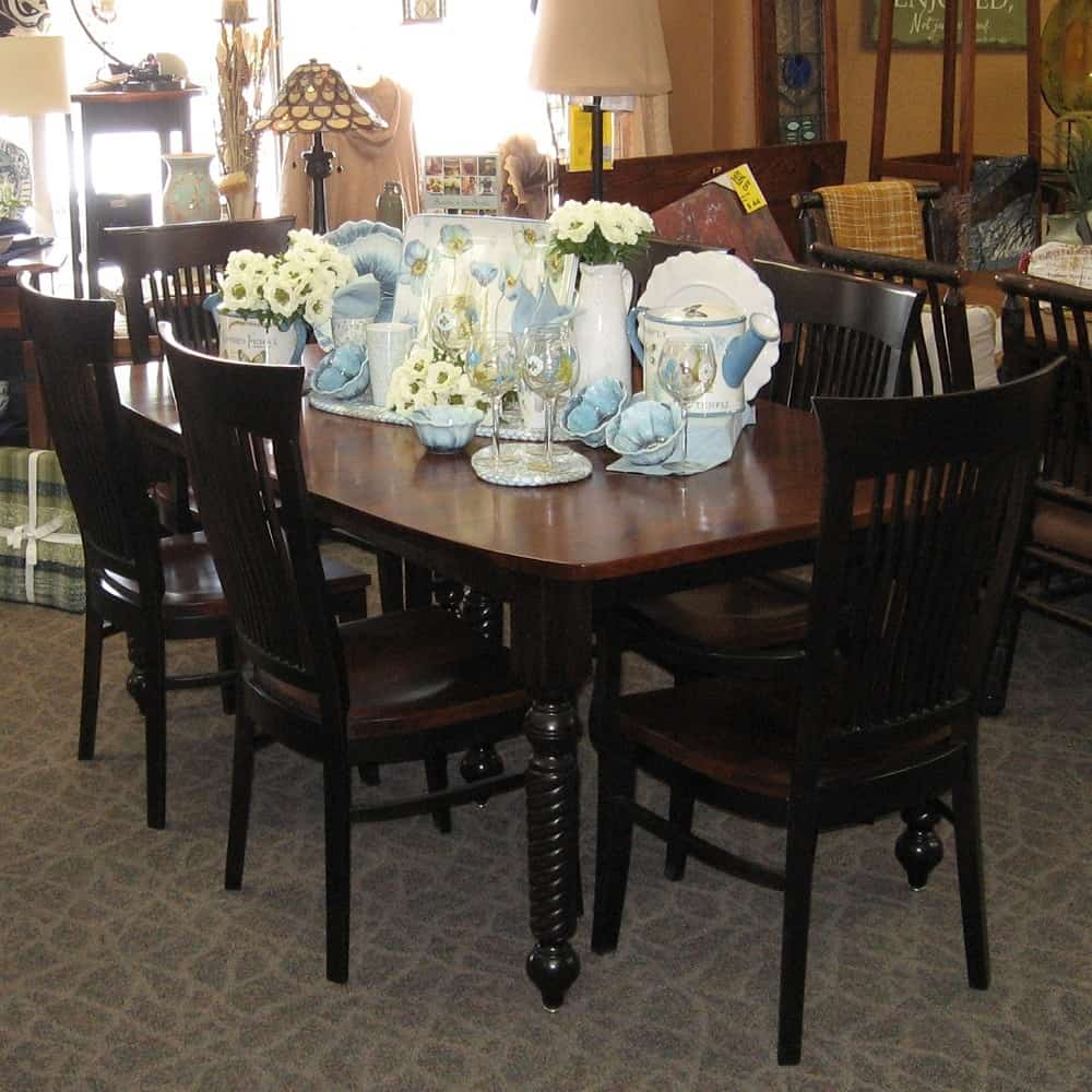42 X 72 Sophia Dining Table With 2 12 Leaves Set Includes Arm Chairs And 4 Side Shown In Rustic Cherry Brown Maple A Two Tone Michaels