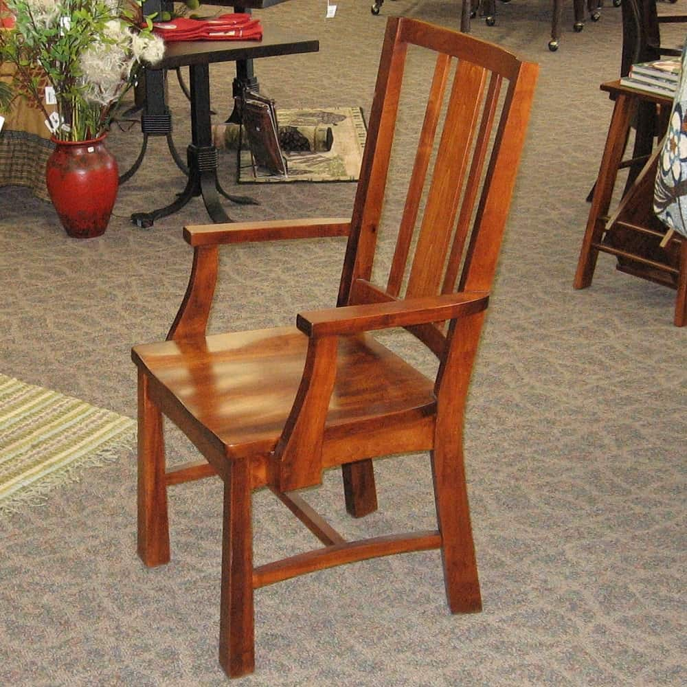 Artesa Arm Chair Shown In Brown Maple With A Michaels Finish