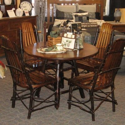 "42"" Round Dining Table with 4 Side Chairs"