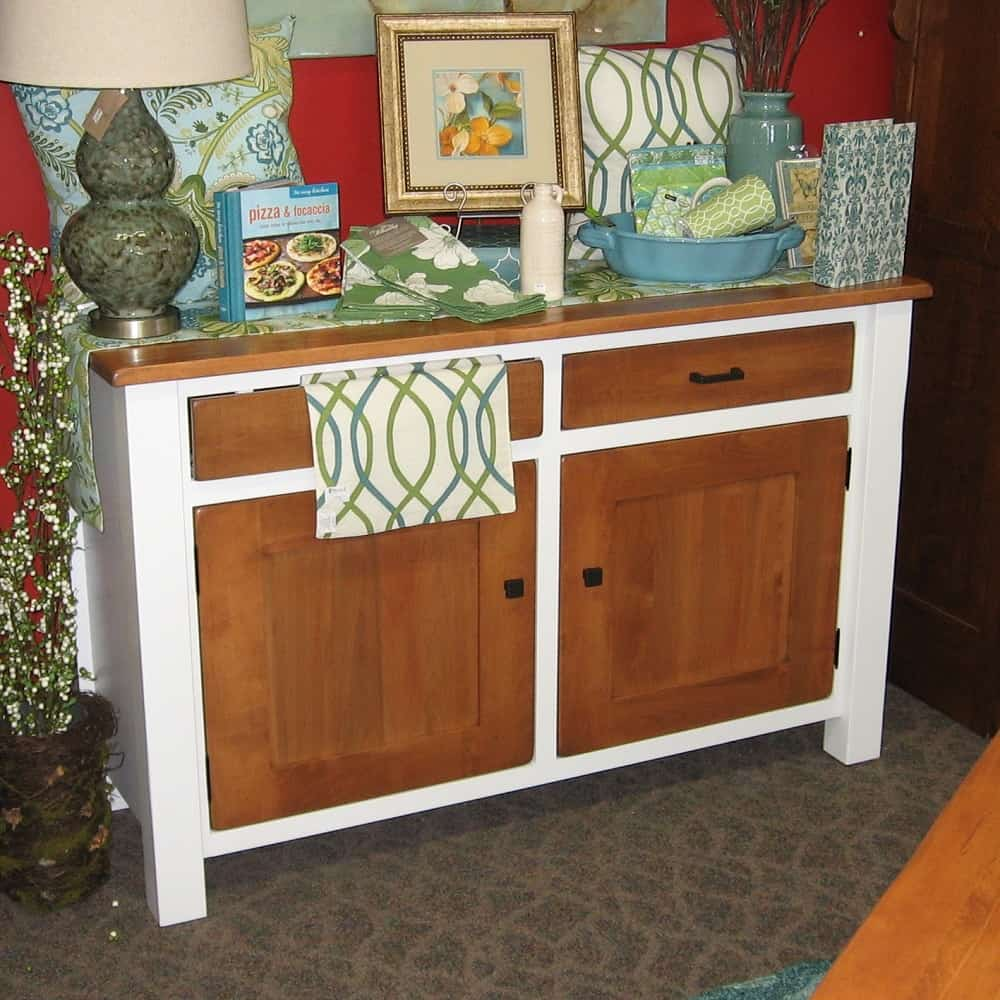 Teton 2 Door 2 Drawer Buffet With A Two Tone Finish