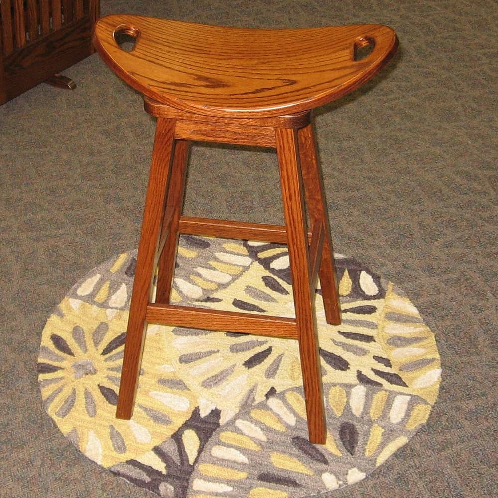 30 Quot Mission Swivel Saddle Bar Stool Oak Michael S Amish Oak