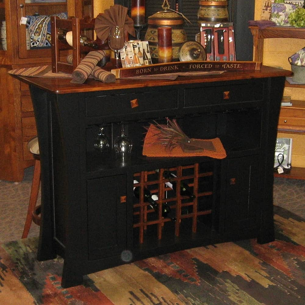 Arts And Crafts Two Tone Bar Island Brown Maple Black And
