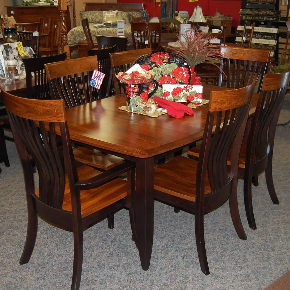 Fine Christy Dining Table Shown In Grey Elm And Brown Maple With A Two Tone Michaels Cherry And Onyx Finish Includes 1 18 Leaf Beutiful Home Inspiration Xortanetmahrainfo