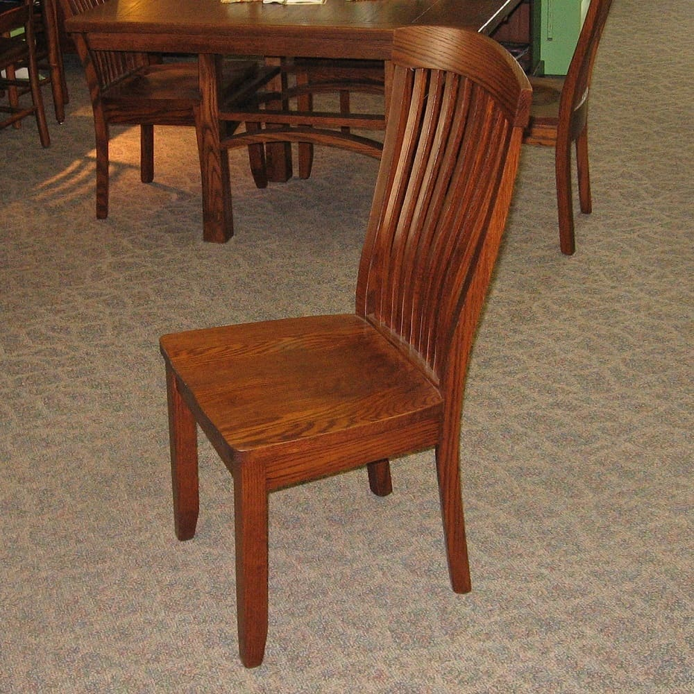 Empire side chair shown in oak with an asbury brown for Oak dining room chairs