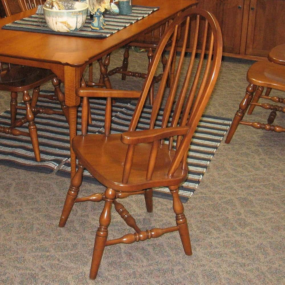 High Bent Feather Arm Chairs Shown In Hard Maple With An