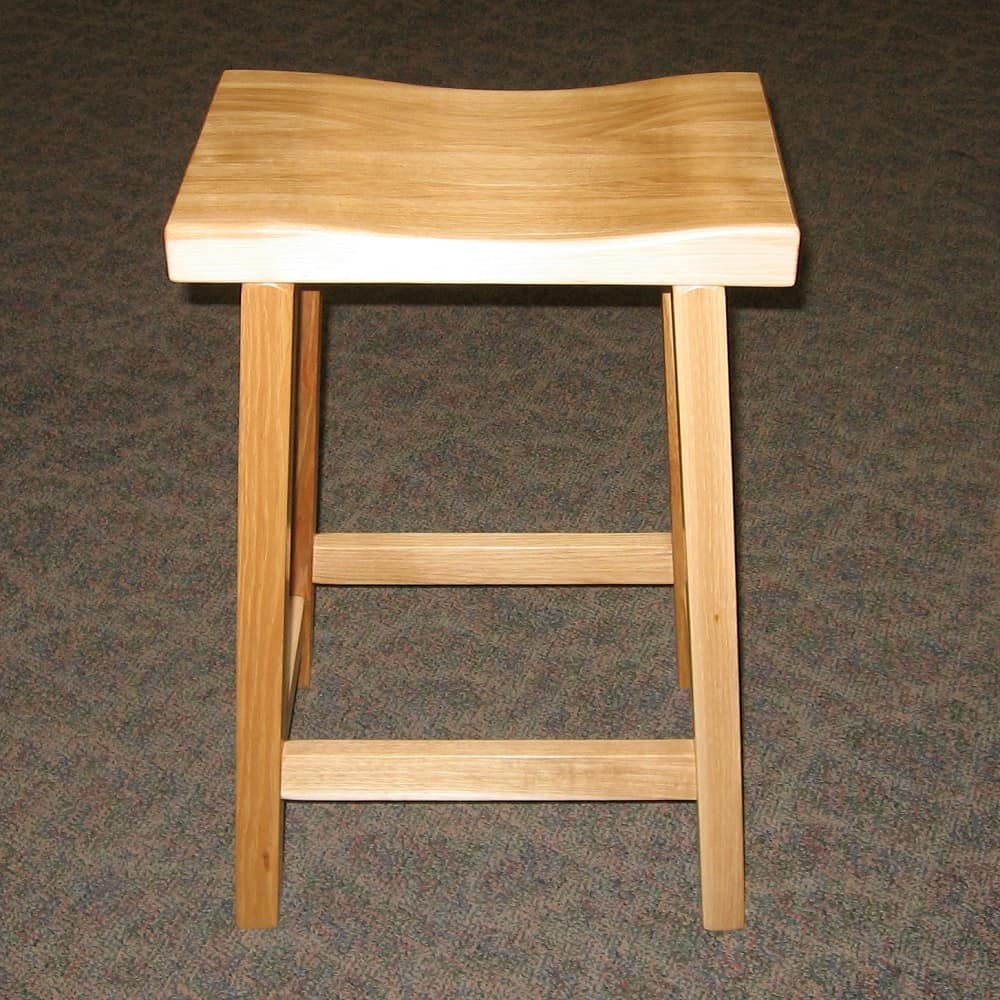 24 Quot Urban Bar Stool Hickory Natural Amish Oak