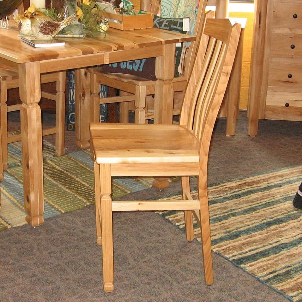 Adirondack Pub Chair Shown In Rustic Hickory With A