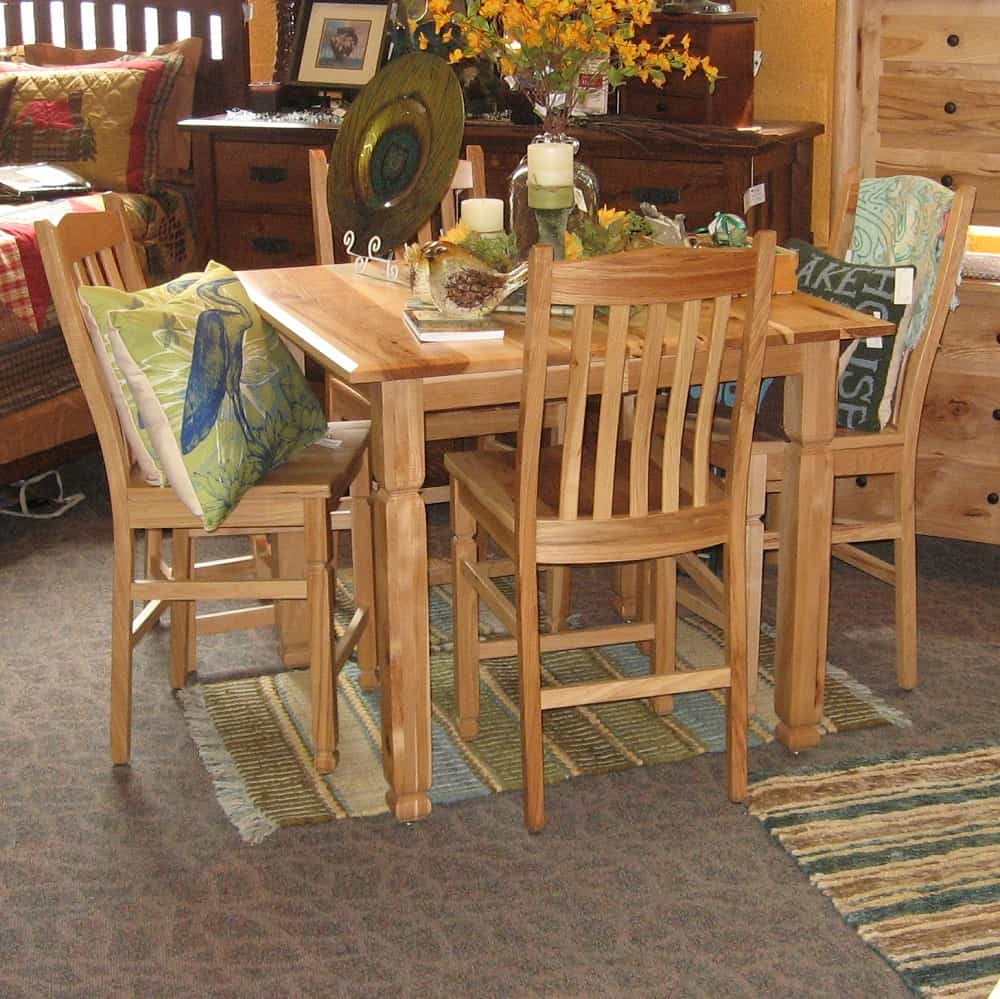 42 Quot Square Adirondack Pub Table Shown In Rustic Hickory
