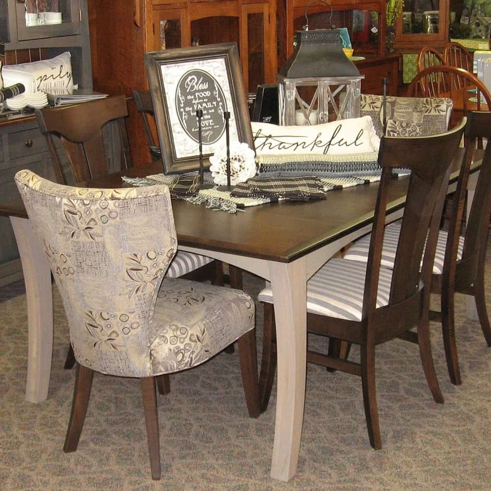 Awe Inspiring Chandler Dining Table Comes With 4 12 Leaves Shown In Brown Maple With A Kona Top And Driftwood Finish Home Interior And Landscaping Ologienasavecom