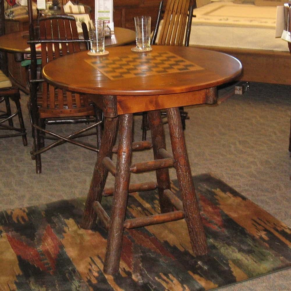 County Delight Game Table, Shown In Hickory And Rustic Alder With A  Michaelu0027s Cherry Finish (Table Only)