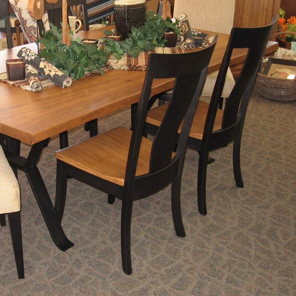 42 x 84 live edge dining table shown in wormy maple. Black Bedroom Furniture Sets. Home Design Ideas