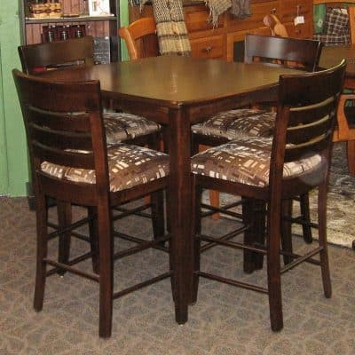 Vienna Pub Table with Chairs, Shown in Brown Maple with a Rich Tobacco Finish