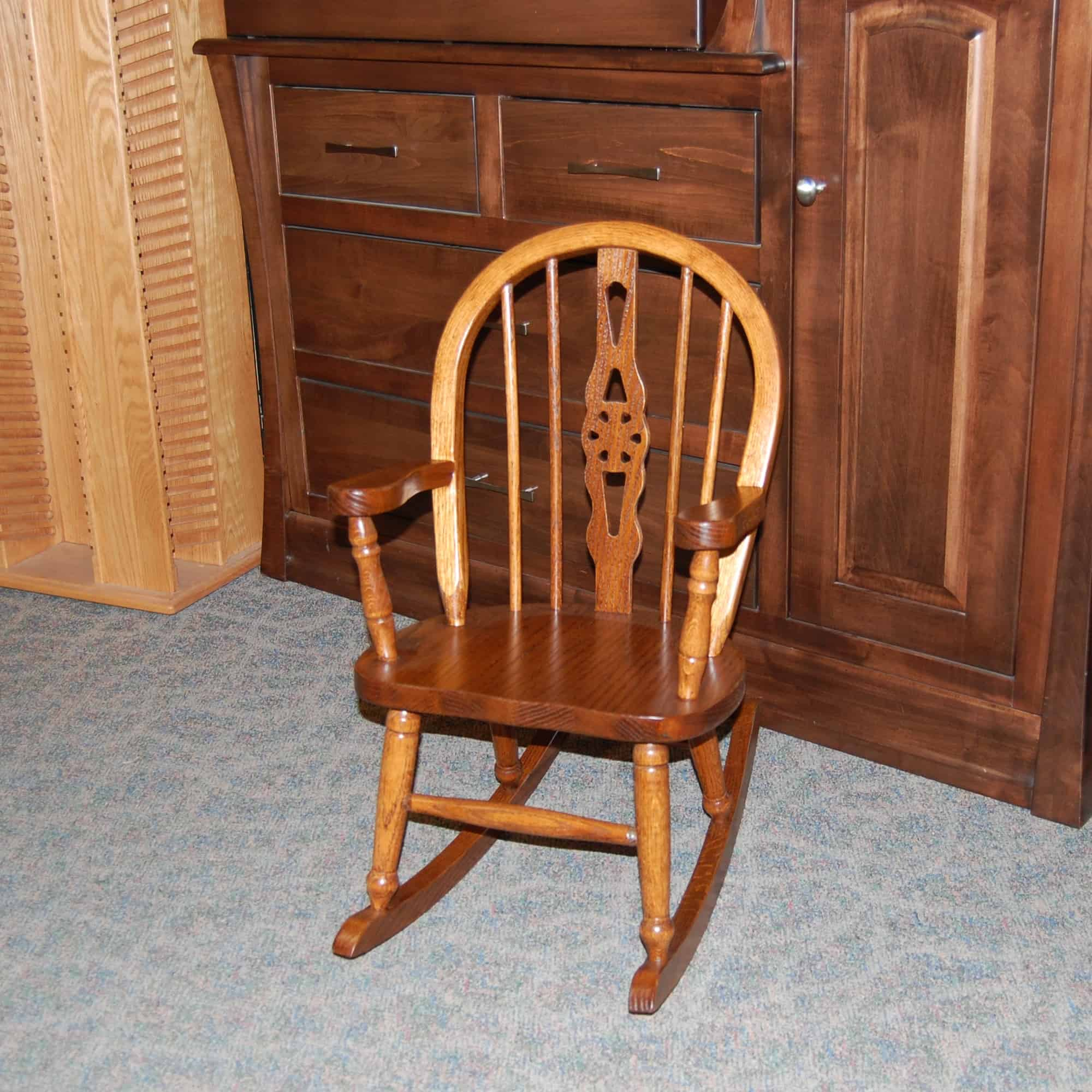 Windsor Child S Rocking Chair Shown In