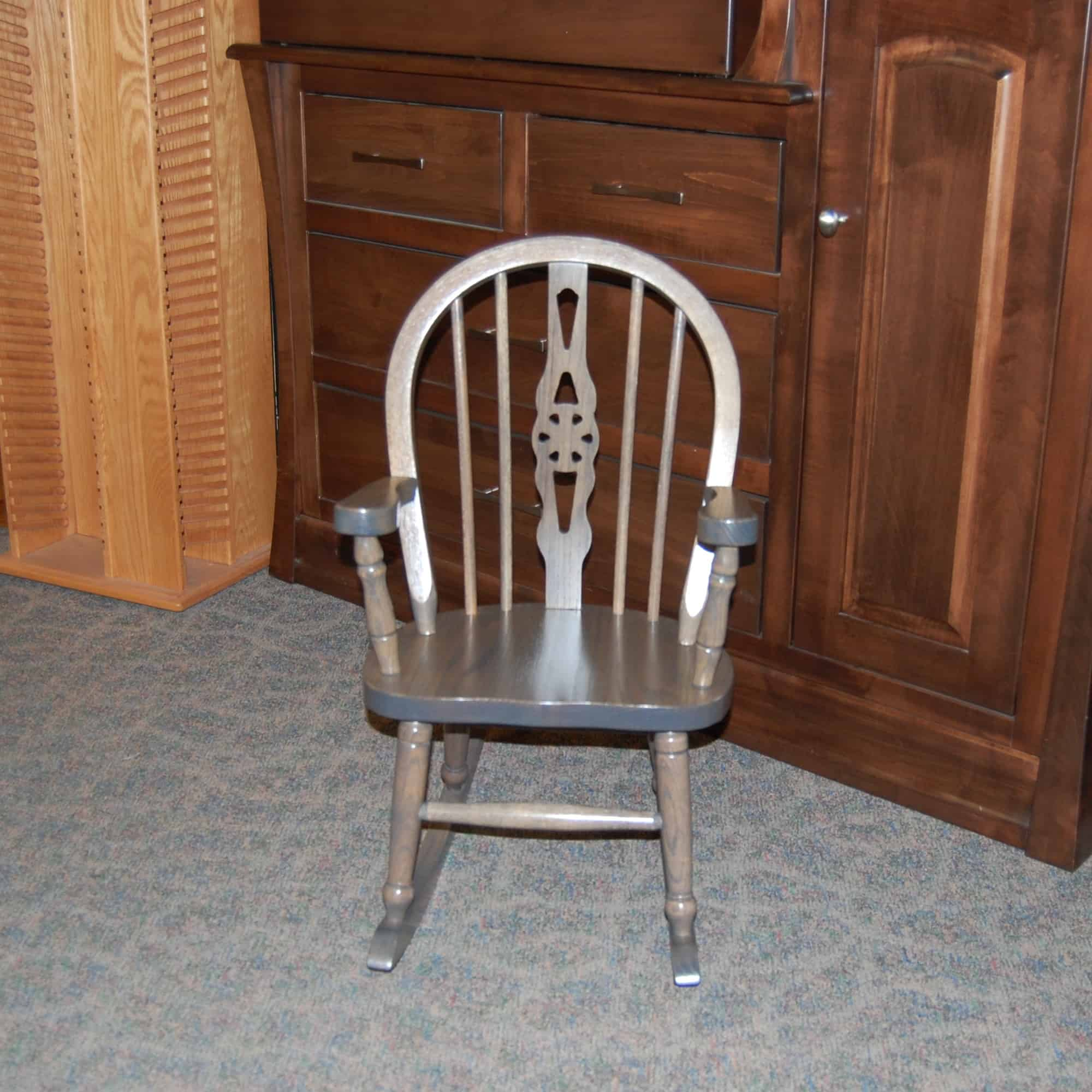 Windsor Child S Rocking Chair Shown In Antique Slate