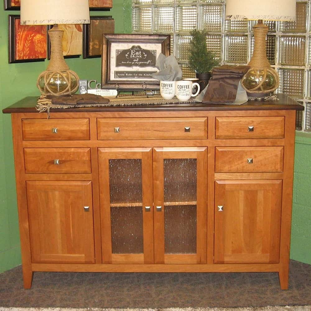 St Croix Beveled Style Buffet Shown In Sap Cherry With A