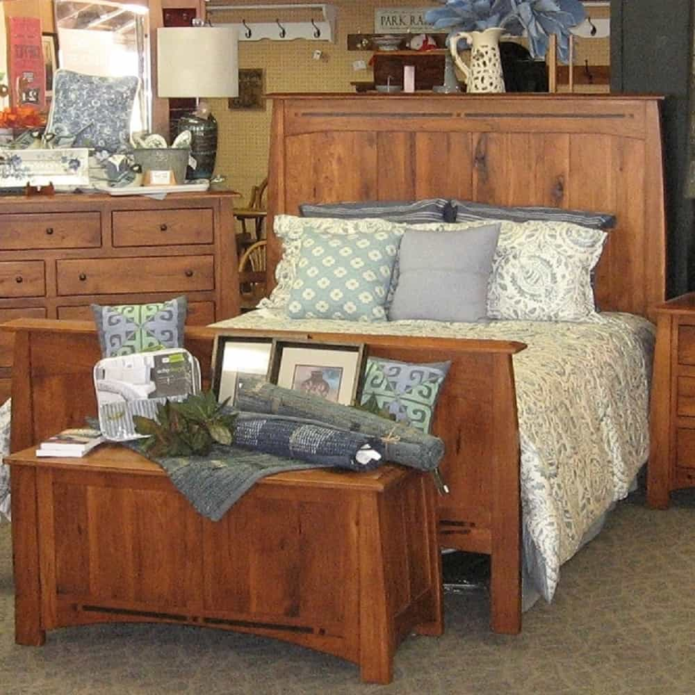 Boulder Creek Queen 6 Piece Bedroom Set, Shown in Rustic Hickory with a  Harvest Finish