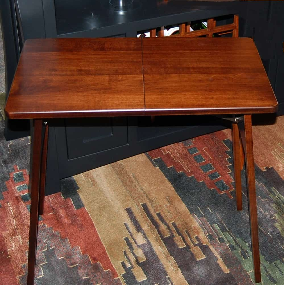 Fireside Table Shown In Brown Maple Amish Oak