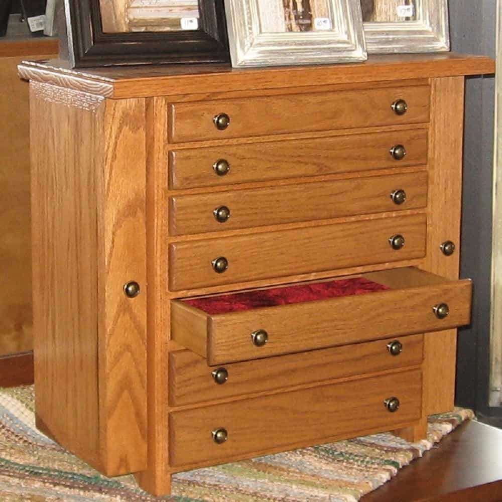 Jewelry Chest With 7 Drawers And 2 Side Opening Doors