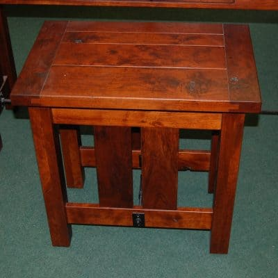 Jordan Plank Top End Table
