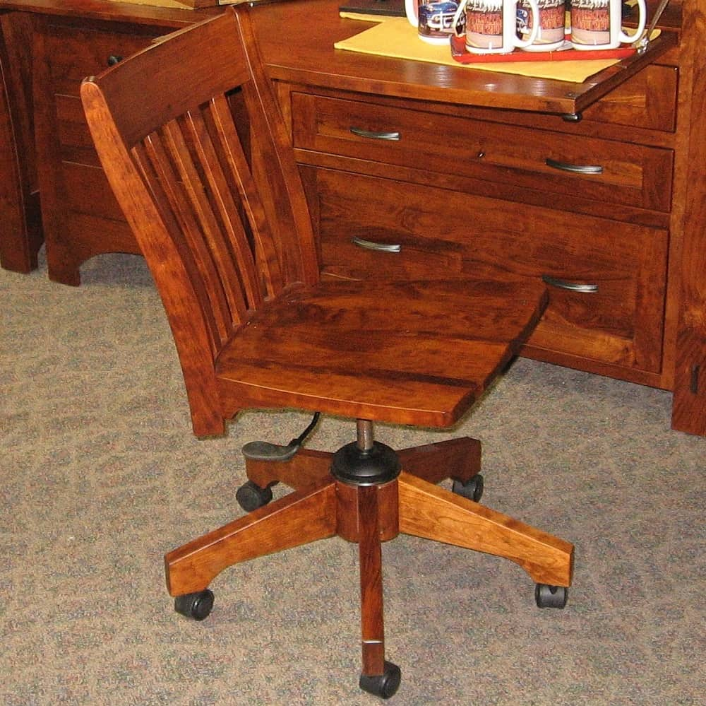 Modesto Office Chair Shown In Rustic Cherry With A Michael S Finish