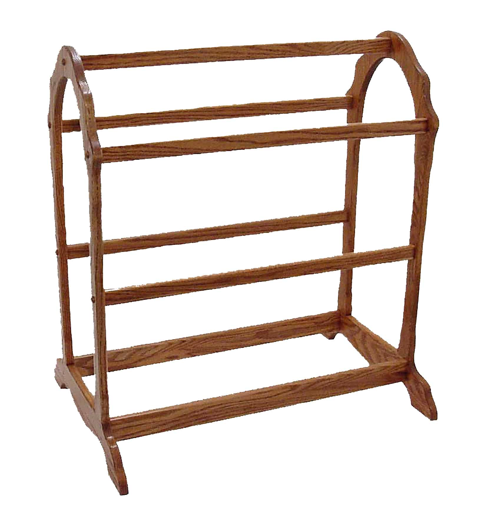 Open End Quilt Rack, Shown In Brown Maple With An Onyx