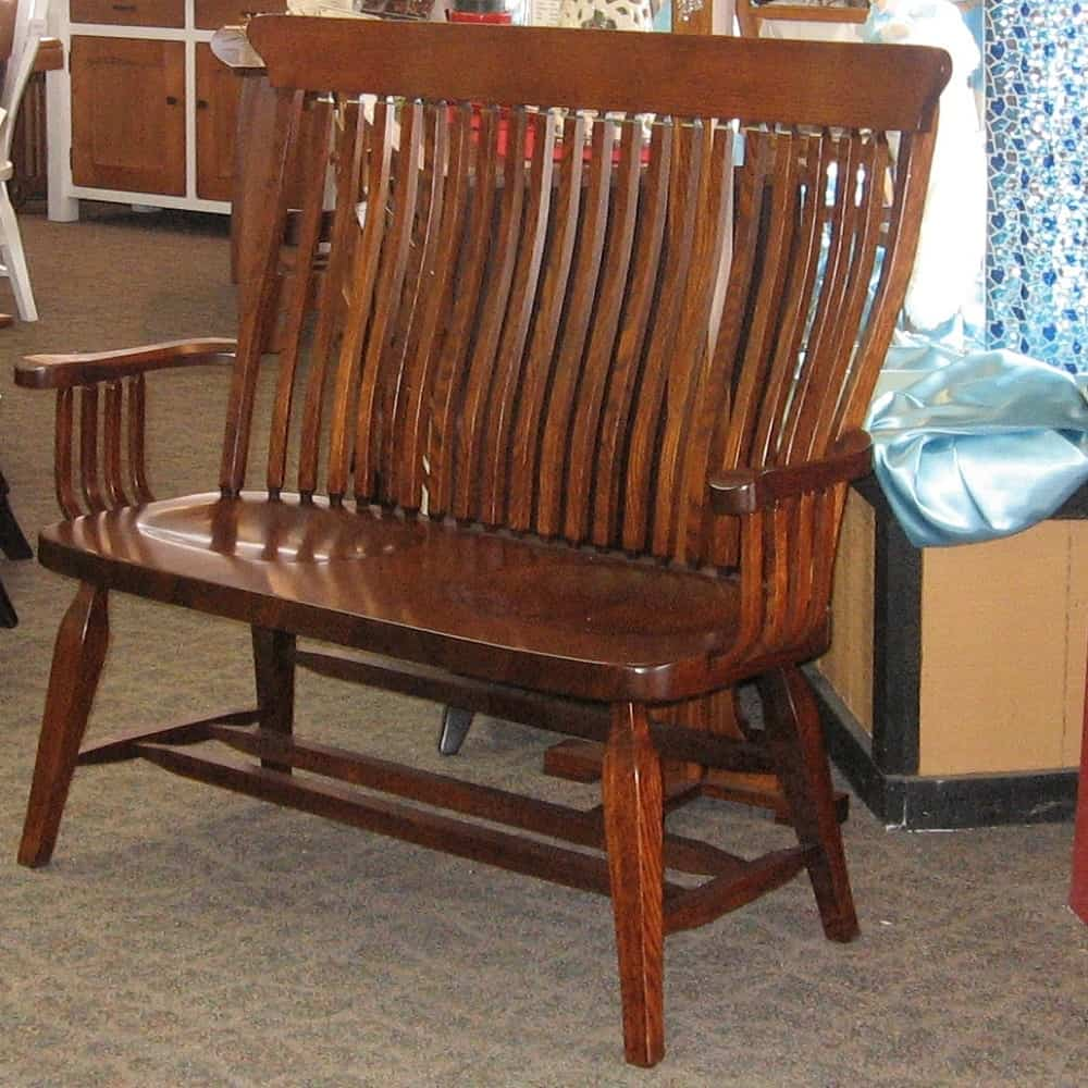 Old South Country Bench Shown In Rustic Quarter Sawn
