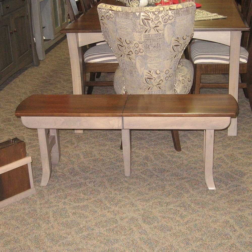 Galveston extend a bench amish oak for Dining room tables 36 x 54