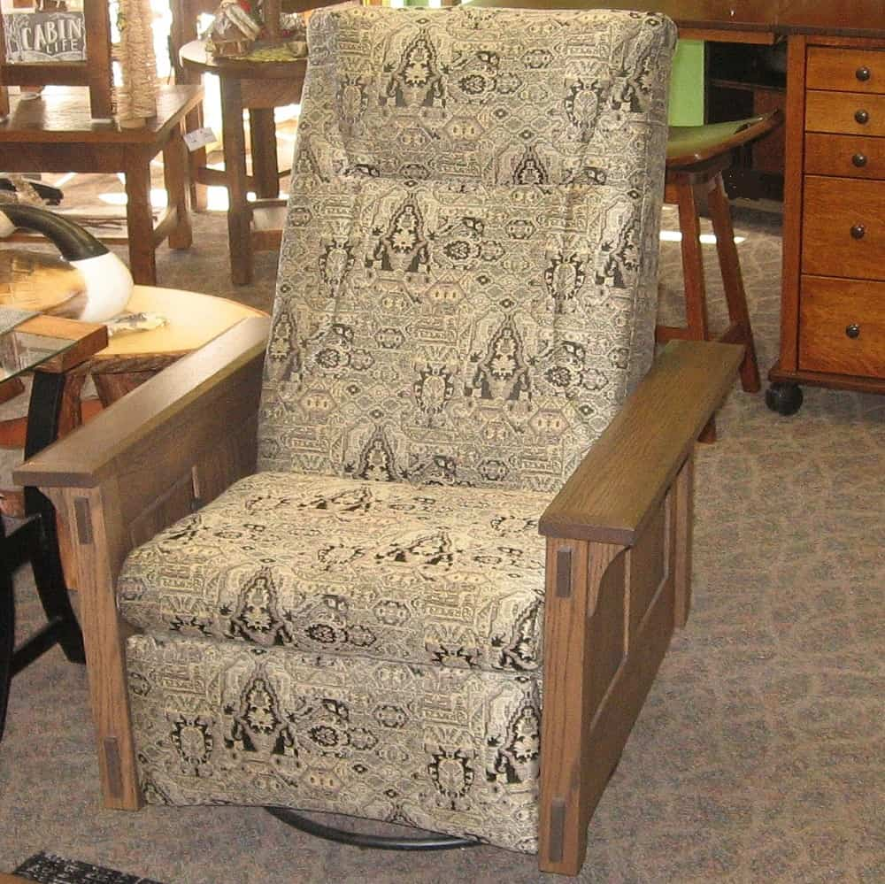 Mccoy Swivel Rocker Recliner Amish Oak
