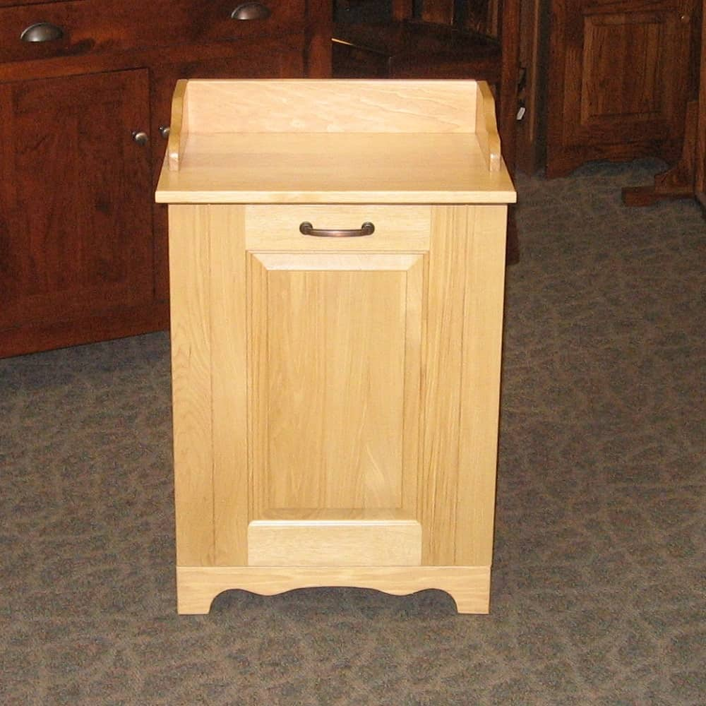 Tilt out trash bin amish oak - Amish tilt out trash bin ...