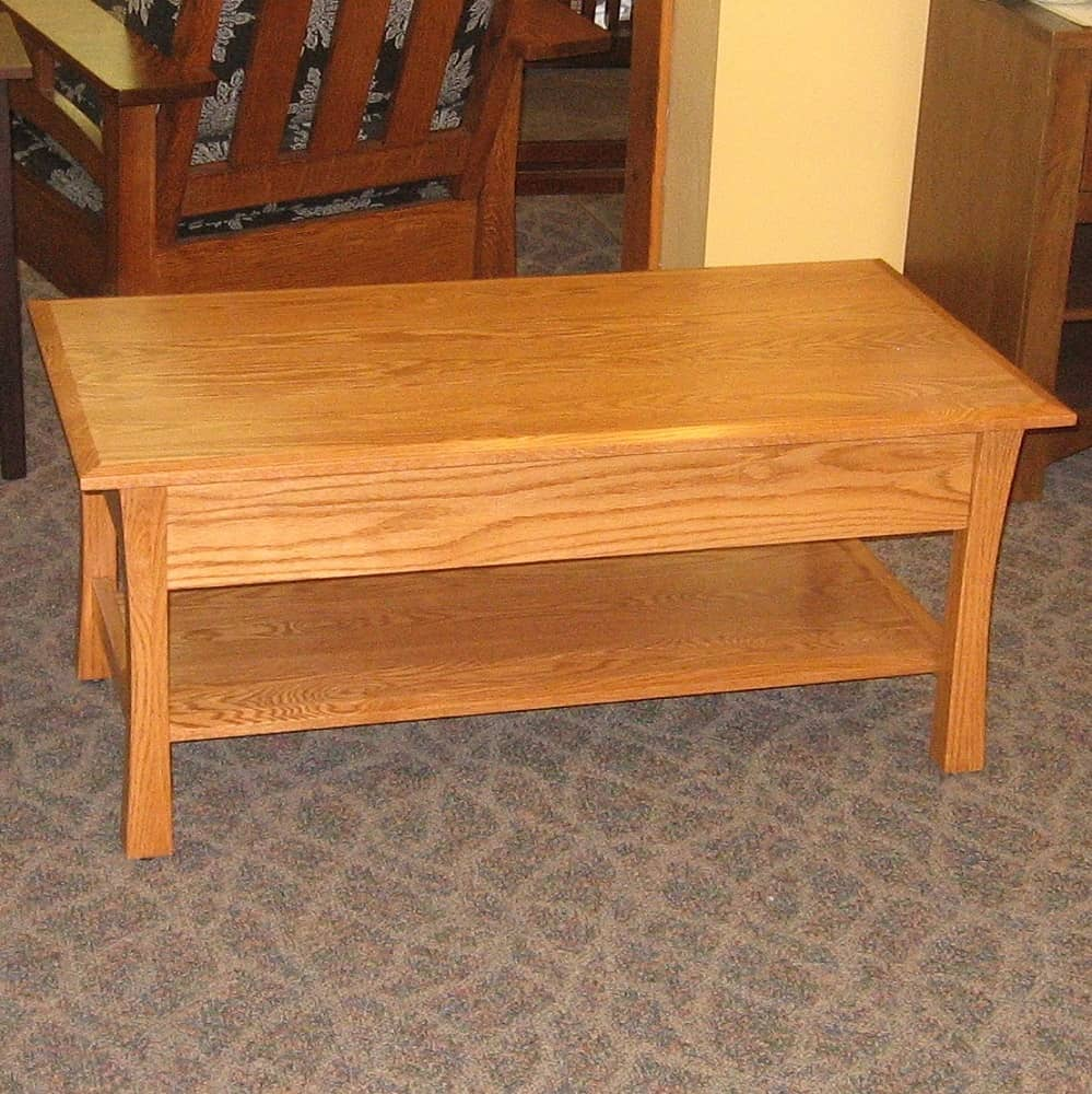 Tyron Style Coffee Table With Drawer