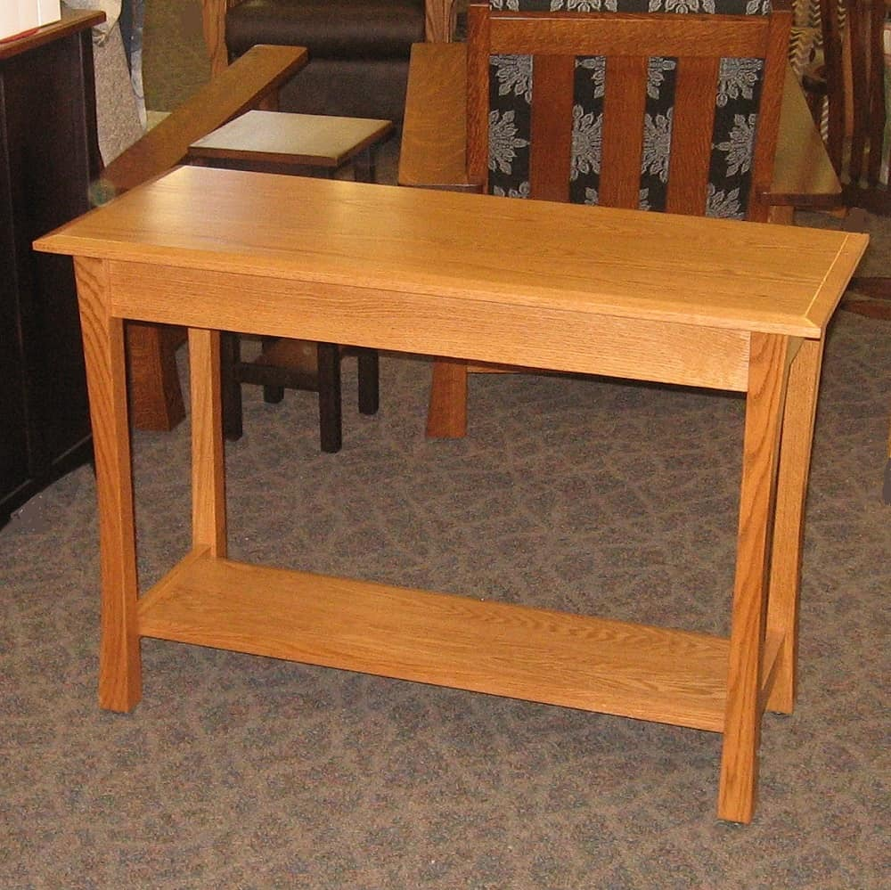 Amish sofa table oak home the honoroak