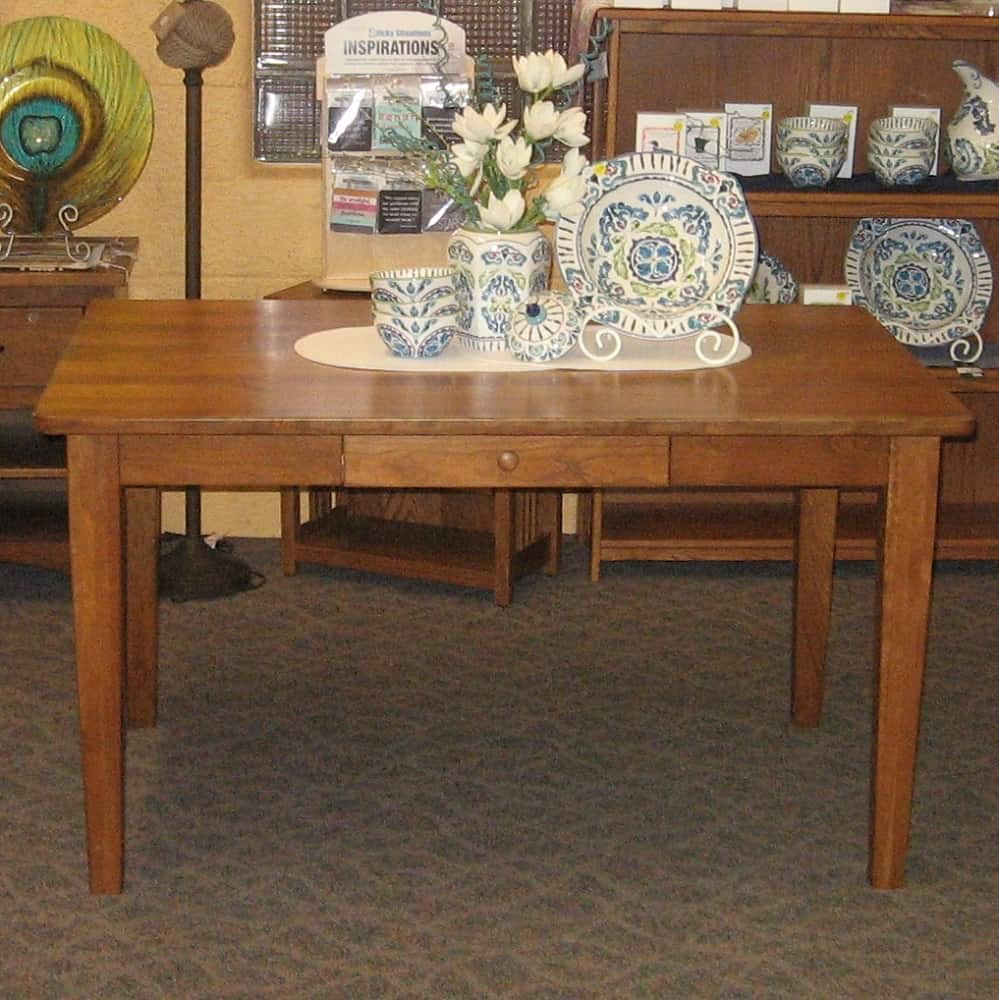36 X 54 Asheville Dining Table Shown In Rustic Cherry With A Seely Stain Amish Oak