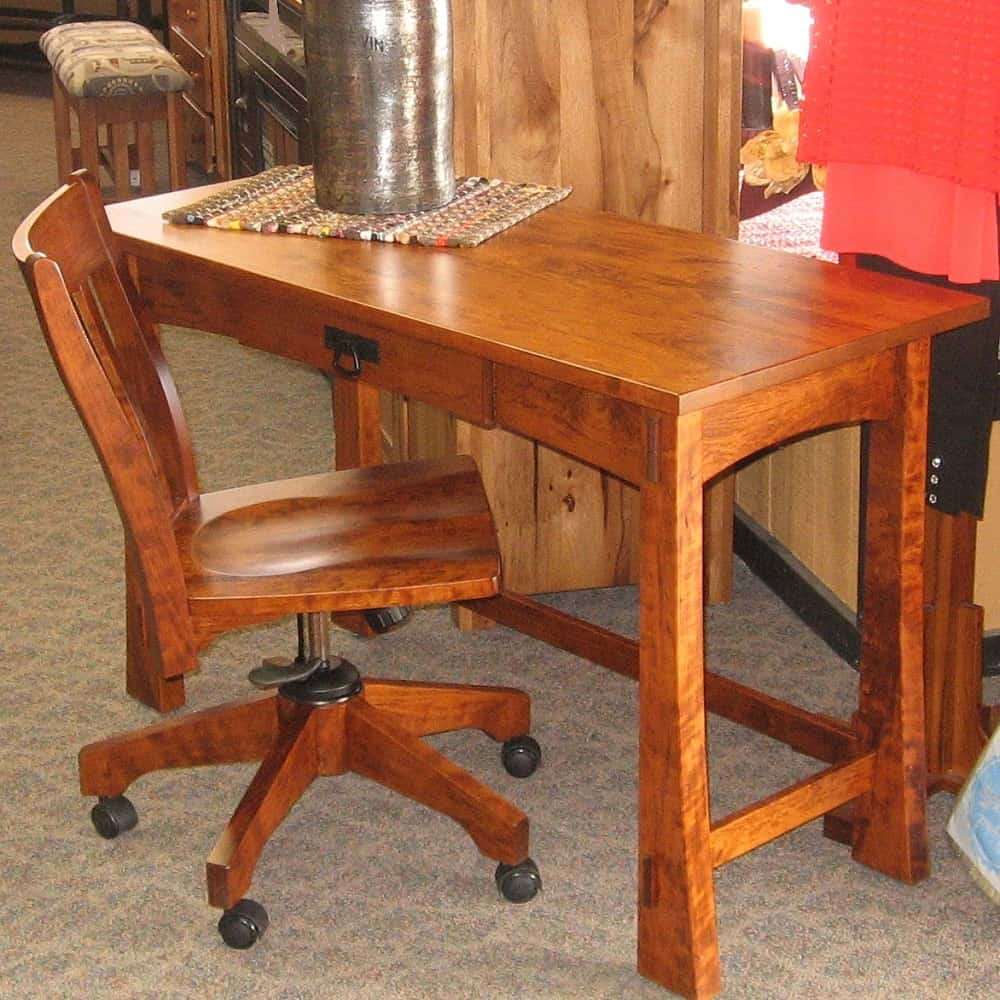 Modesto Desk And Chair Set Shown In Rustic Cherry With A Michael 39 S Cherry Finish Amish Oak