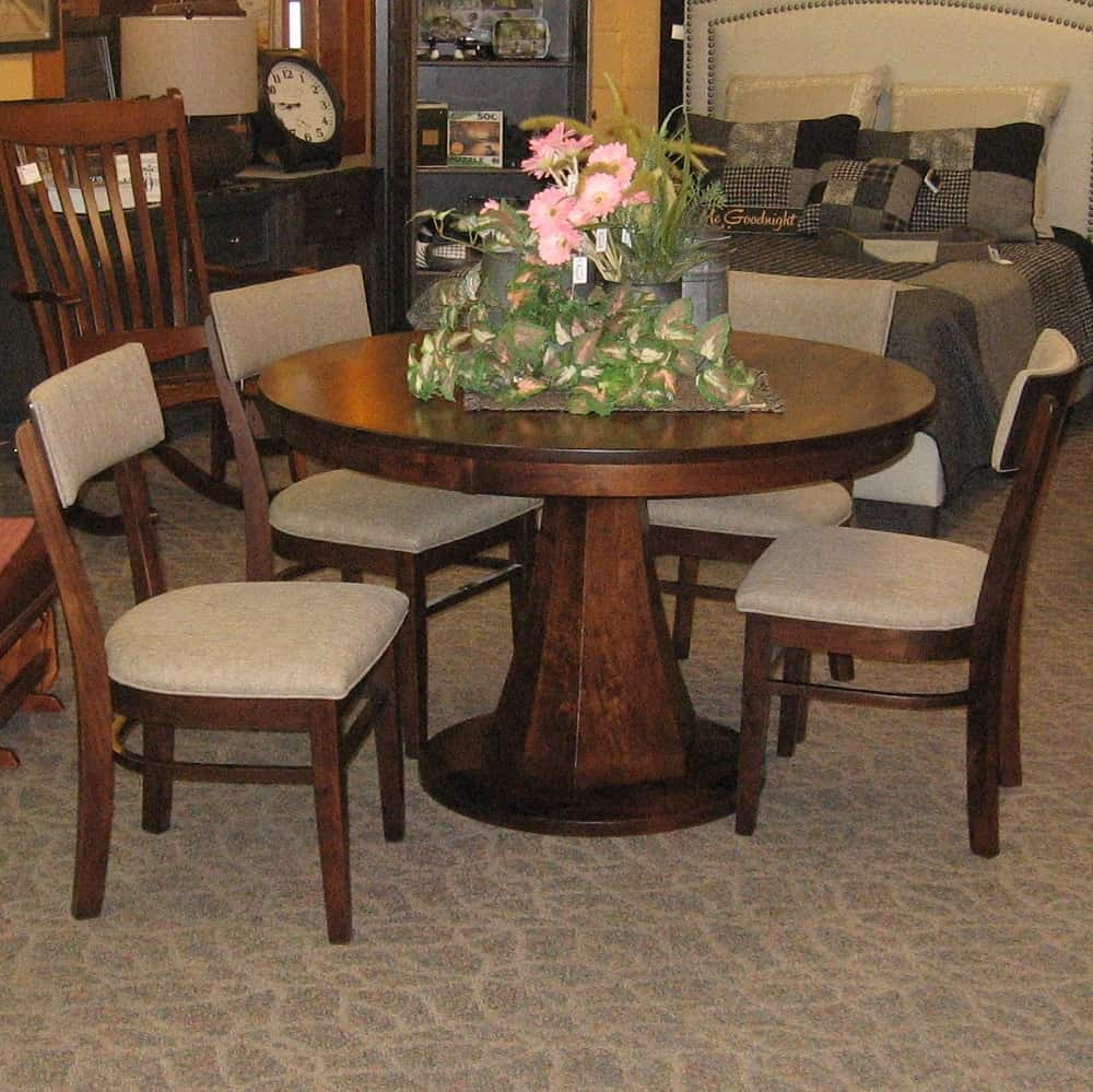 Beautiful Emerson Dining Table, Shown In Rustic Cherry With An Earthtone Finish (Table  Only)