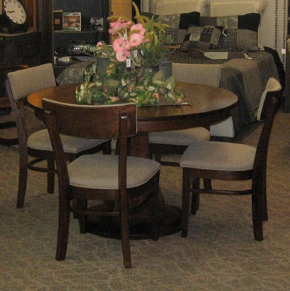 Emerson Dining Set, Shown In Rustic Cherry With An Earthtone Finish