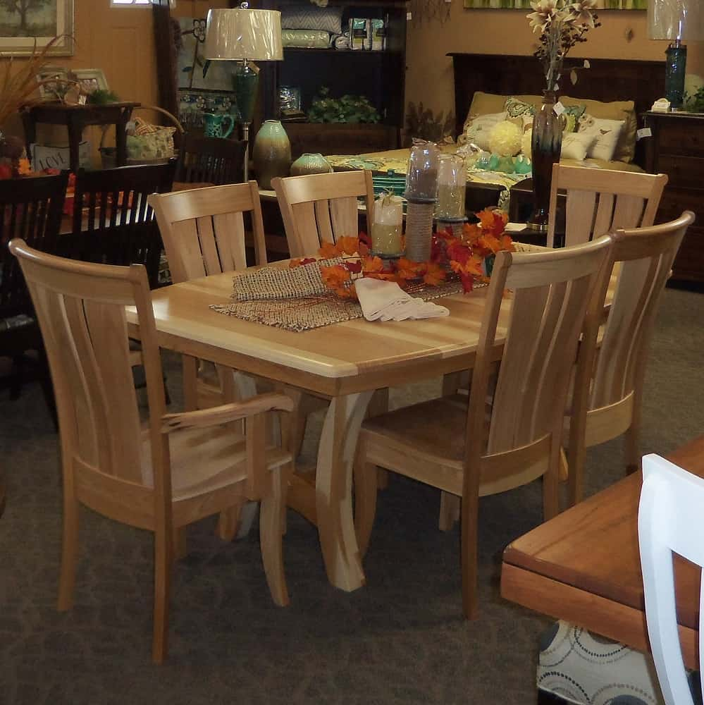 Grand Island Dining Table Shown In Hickory With A Natural