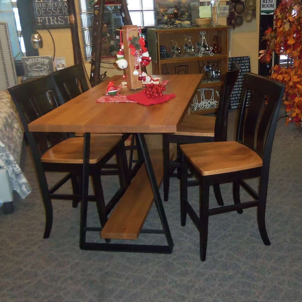Jamestown Bar Table Shown In Brown Maple With A Low Sheen