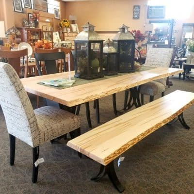 Live Edge Dining Set 1
