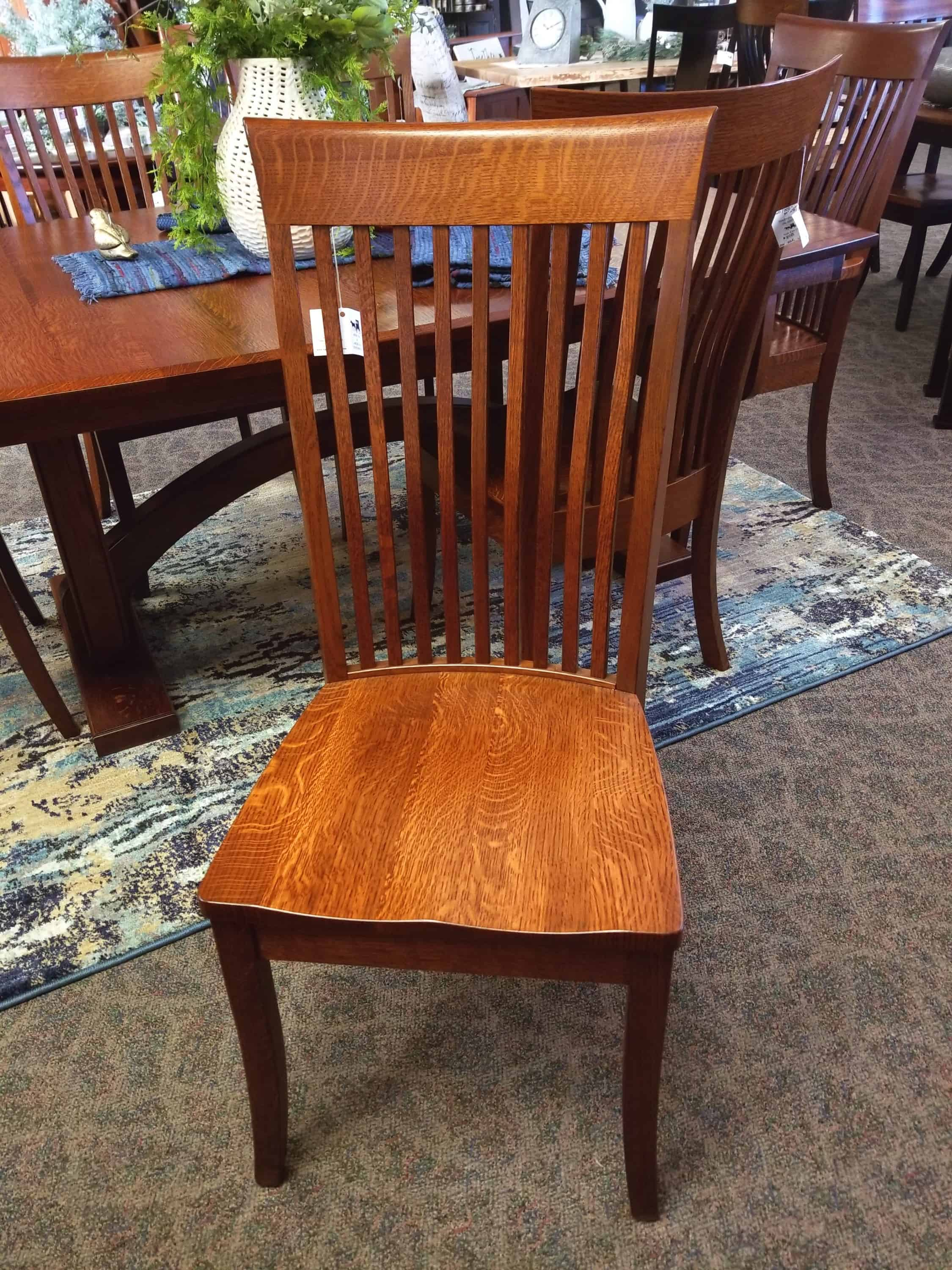 Hi Bent Shaker Side Chair Shown In Quarter Sawn White Oak With A Michael S Cherry Finish