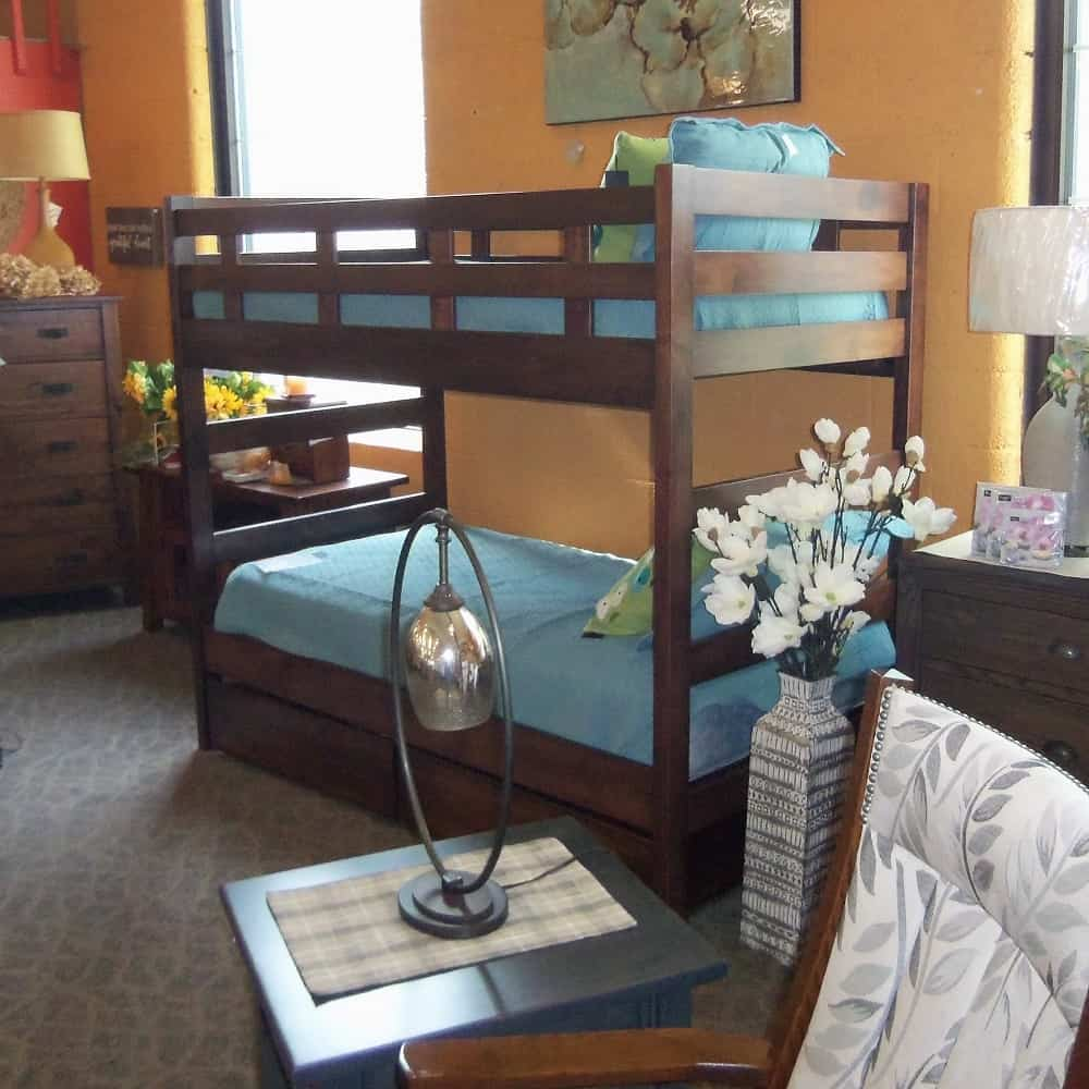 Bunk Bed With Roll Away Drawers Amish Oak