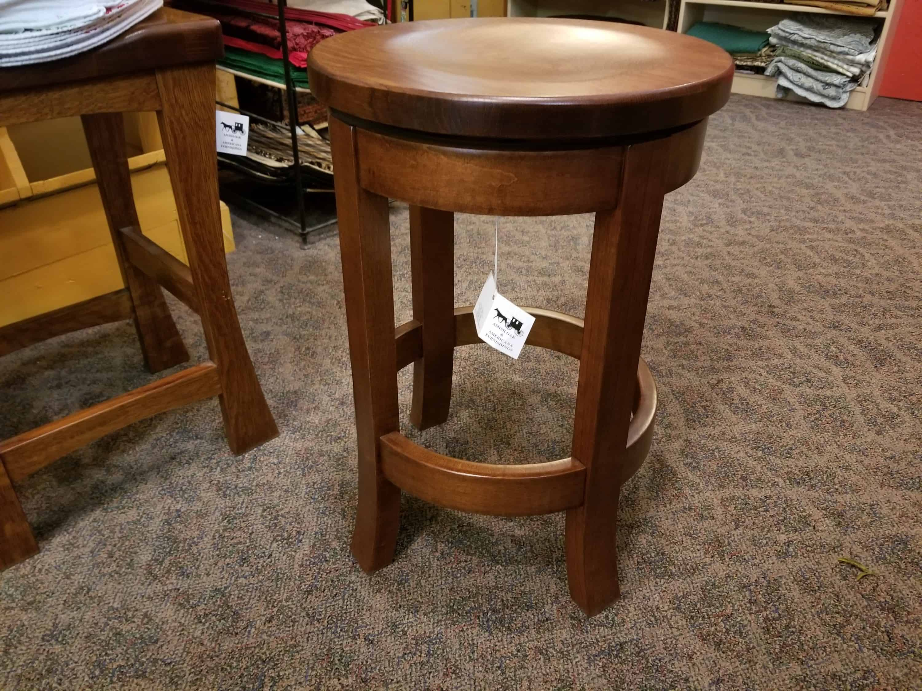 Miraculous Belmont Barstool Shown With A Quarter Sawn White Oak Top And A Brown Maple Base Both In A Michaels Cherry Finish Unemploymentrelief Wooden Chair Designs For Living Room Unemploymentrelieforg