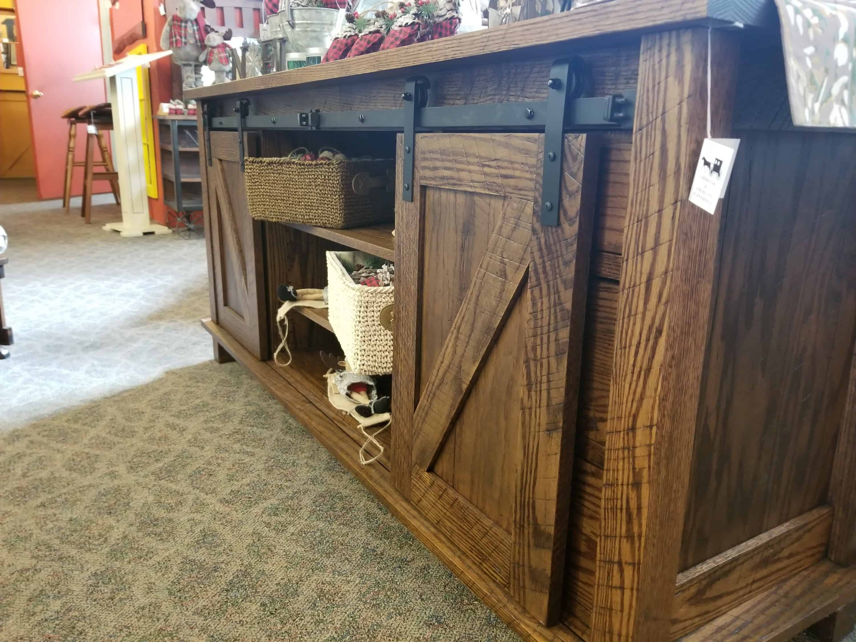 Valley Forge Tv Stand Shown In Rustic Quarter Sawn White