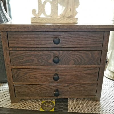 Antique Slate Jewelry Cabinet