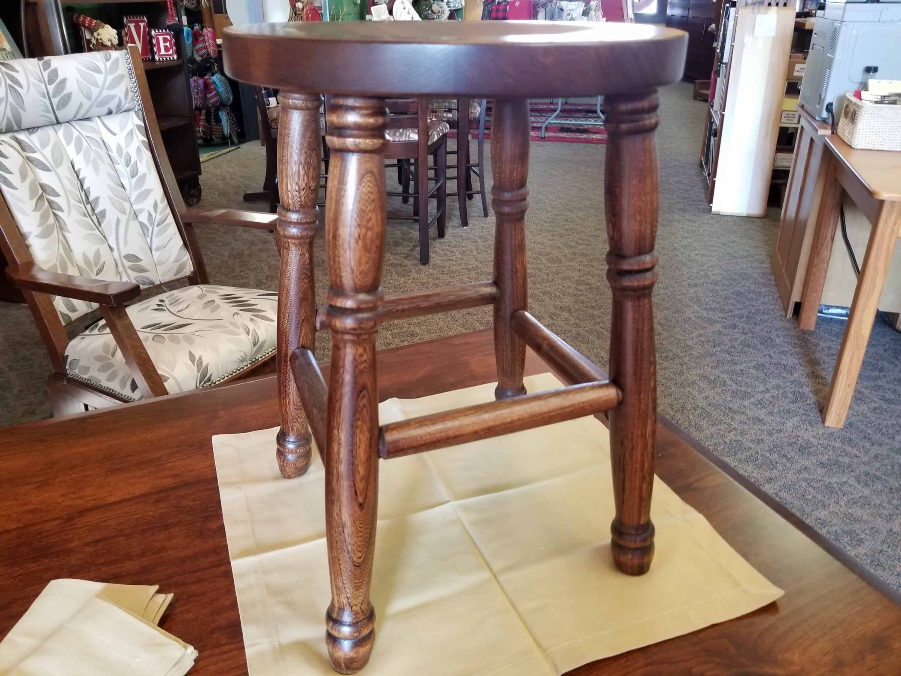 Marvelous 18 Kitchen Stool Shown In Elm With A Michaels Cherry Finish Evergreenethics Interior Chair Design Evergreenethicsorg