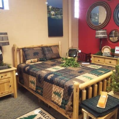 Turned Log Bedroom Set