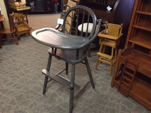 Antique Slate Bow High Chair