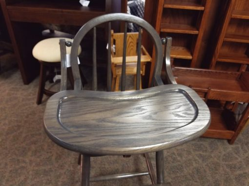Antique Slate Bow High Chair 2