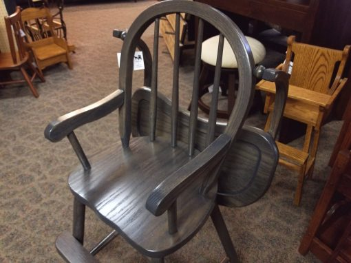 Antique Slate Bow High Chair 4